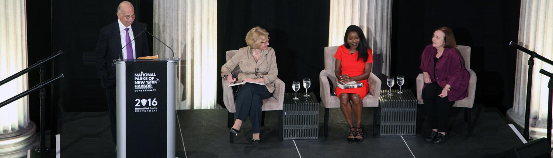Speakers at the 2016 Great Debate held at Federal Hall