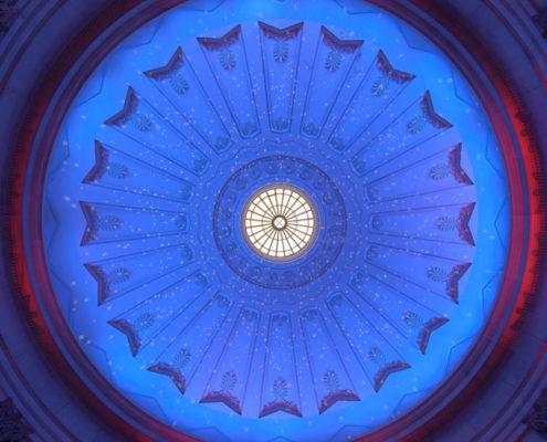 Grand Rotunda Starry Night Lighting Effects