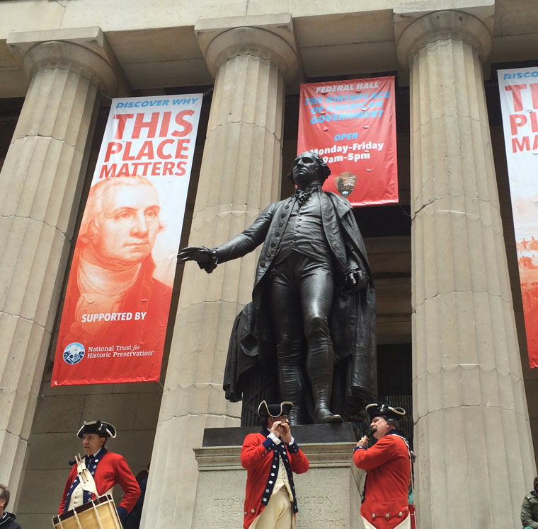 Federal Hall is named a National Treasure