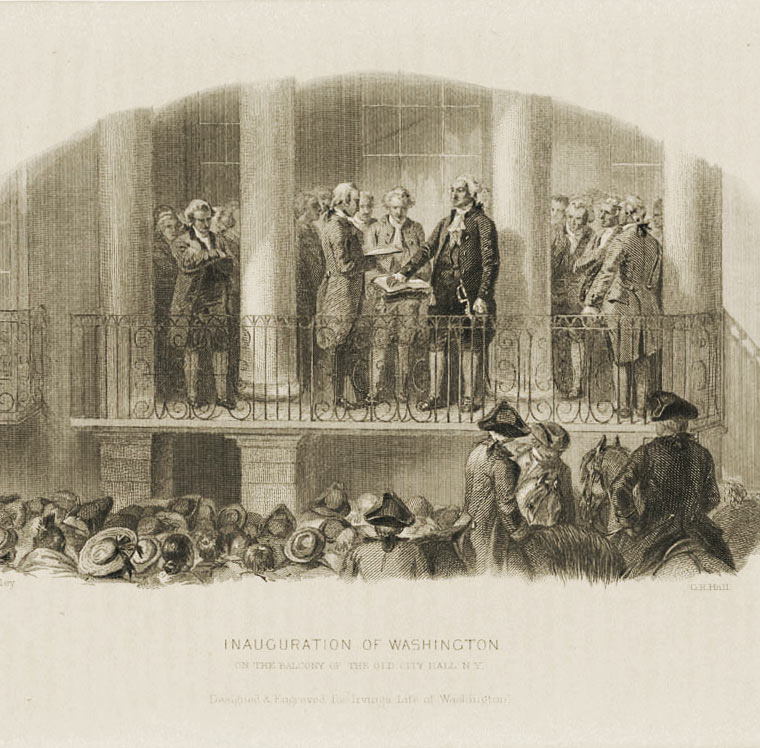 Washington is inaugurated & Congress acts